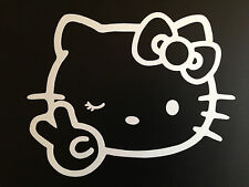 "1pcs 4"" x 5"" Hello Kitty Car Sticker Emblem Label/Window/ LapTop / iPad Stick #3"