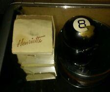 *VINTAGE HENRIETTE* 8 BALL Powder ENAMEL COMPACT CASE BILLIARDS Circa 1940- 1950