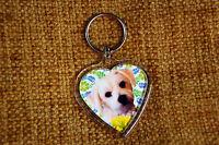 Maltese Terrier Gift Keyring Key Ring heart shape Birthday Gift Mothers Day Gift