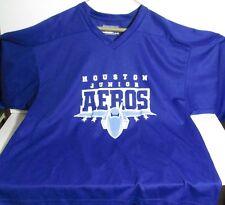 Houston Junior Aeros Minor League Hockey Jersey Blue Practice Sweater Size M-L