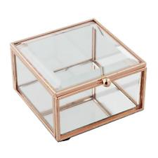 Rose Gold Glass Trinket Box