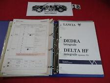MANUALE DI ASSISTENZA TECNICA LANCIA DELTA DEDRA INTEGRALE VOLUME 4°
