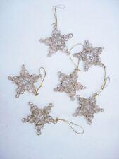 offerte Set de 2 étoiles d'OR treillis pendant Noël Décoration sapin de Noël