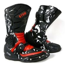 Style Kids XTRM Adventure on off Road Motorbike Motorcycle Quad Armour BOOTS Red Size UK 2