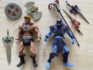 MOTU Masters Of The Universe 200x He-Man & Skeletor Set *Complete*