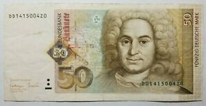 1996 Germany 50 Deutsche Mark, P-45, B230, VF, Scarce