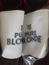 carlton pure blonde beer can cooler has base - x2