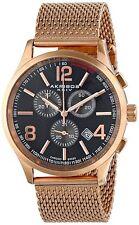 NEW Akribos XXIV AK719RG Men's Ultimate Rose Gold-Tone Mesh Bracelet Round Watch