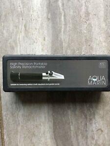 NEW AQUA MARIN HIGH PRECISION PORTABLE SALINITY REFRACTOMETER FISH AQUARIUMS
