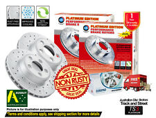 HOLDEN Captiva CG 10/06-ON FRONT REAR SLOTTED DRILLED Disc Rotors & EuroPads