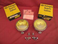 NOS Original Hella 118 Porsche 911 Horn Grille Amber Fog Lights Lamps dated 1968