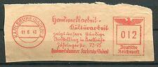 FLAMME DEUTSCHE REICH 1943  KARLSRUHE  BADEN