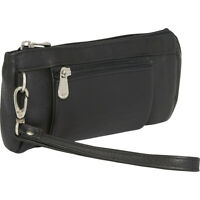 Le Donne Leather Wristlet Wallet - LD-7036-BL