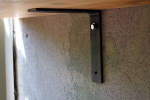 Metal Shelf Brackets 180mm (18cm) & Fixings Industrial Rustic Steel Shelving