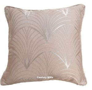 """Metro Blush Pink Piped Cushion Covers,Luxury Woven Fabric,17""""(43cm) x 17""""(43cm)"""
