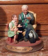 1991 Norman Rockwell Figurine Love Cures All-Gems Of Wisdom- # A 1488