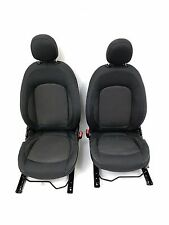 Pair Genuine Mini Cooper Hardtop 2016 Front Seats Cloth With Coloured Stitching