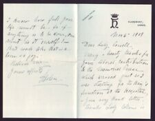 """LETTER PRINCESS HELENA DUCHESS OF ALBANY """"THE SPIRIT OF THE GREAT QUEEN HOVERS"""""""