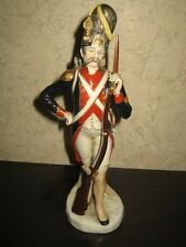 Dresden porcelain figurine - Grenadier of Napoleon Army 1812, made in Germany