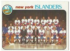 1978-79 OPC HOCKEY #201 ISLANDERS CHECKLIST - EXCELLENT+