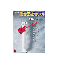 """THE GREAT BASSISTS"" BASS GUITAR W/TAB MUSIC BOOK/CD-BRAND NEW SONGBOOK ON SALE!"