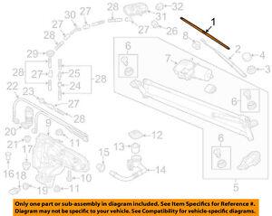 VW VOLKSWAGEN OEM 2018 Tiguan Wiper Washer-Windshield-Blade Left 5NN95542503C