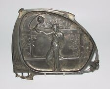Antique WMF Art Nouveau Two Lovers, Romeo & Juliet? Pewter Card Tray. #280