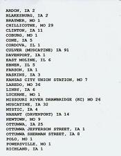 MILWAUKEE ROAD CMStP&P TRAIN ORDERS (575) SAVANNA, ILL. TO KANSAS CITY, MO. CD!