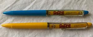 Vtg POPEYE Floaty Floating Pens  ~ Denmark Eskesen ~ Two Pens 1988