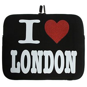 I Love London Neoprene Tablet Sleeve Pouch Case Cover For iPad 1 2 3 4 Air