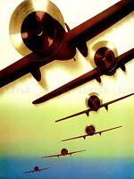 ADVERT EXHIBITION 1937 ZURICH INTERNATIONAL AIRSHOW PLANE ART POSTER PRINT LV163