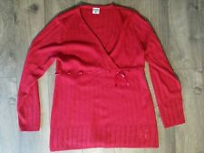 Motherhood Maternity Large Sweater Maternity Red