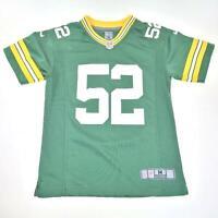 Nike On Field Green Bay Packer Clay Matthews Youth Jersey NFL Players Medium 52