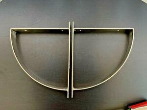 x2 vintage IKEA ROBERT Aluminum Bracket 20403   Wall Shelf Brackets Pair Modern