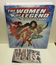 DC COMICS: THE WOMEN OF LEGEND [2013] Complete (63) Card Base Set in Binder