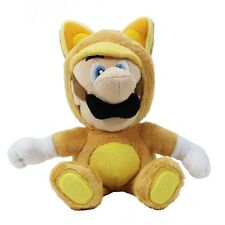 "Nintendo Super Mario 11""  Plush Sanei Doll - Tanooki Suit Luigi"