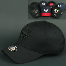 Ball Baseball Cap SUPERMAN M-XL all BLACK Hat Flex Fit Sports Outdoor