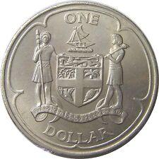 elf Fiji Islands 1 Dollar 1969  Coat of Arms