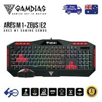 Gaming PC Keyboard+Mouse Combo USB Wired with 7 Colour Backlight Gamdias Ares M1
