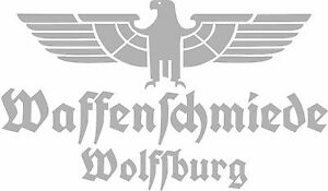 Waffenschmiede Wolfsburg Fahrzeug Aufkleber Silber WH Vehicle Sticker Eagle