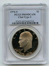 1976 S $1 T2 Ike Eisenhower Dollar Proof PCGS PR69DCAM