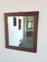 Biedermeier-Spiegel Eiche mittelbraun um 1840 H 74 cm