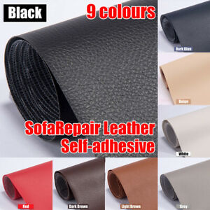 137x50cm For Sofas, Car Seats Pu Leather Adhesive Sticky Rubber Patch( 9 Color)