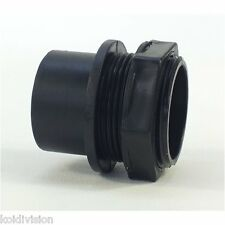 """2"""" (56mm) THREADED TANK CONNECTOR WITH RUBBER SEAL (koi,pond,quarantine,vat)"""