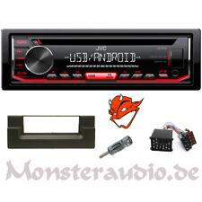JVC Autoradio USB CD MP3 USB Radio für BMW 5er E39 + Radioadapter & Blende
