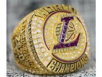 New Lakers Golden Champiosn Ring 2020 NBA Lebron James Kobe Superbowl Gift