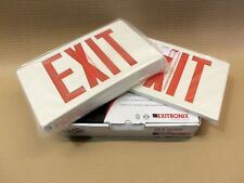 New in box Exitronix Vex-U-Bp-Wb-Wh-G2 Exit Sign Red Letters