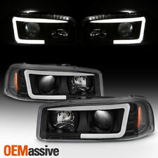 For 99-06 Gmc Yukon Sierra 1500/2500 Hd/3500 Black Led Tube Projector Headlights (Fits: Gmc)