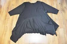 LOOK a strati lunga-grande-tunica-maglietta NERO BLACK BORSA 46,48,50,52,XL,XXL