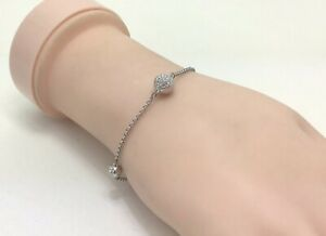 "Fine Crystal Remix Strand Rhodium Plated Bracelet, 7""/18cm RRP £49"